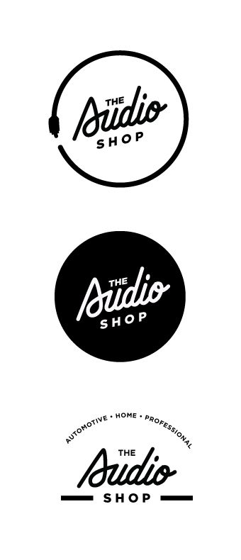 Custom type design |  logo  branding  design for the Audio Shop                                                                                                                                                      More