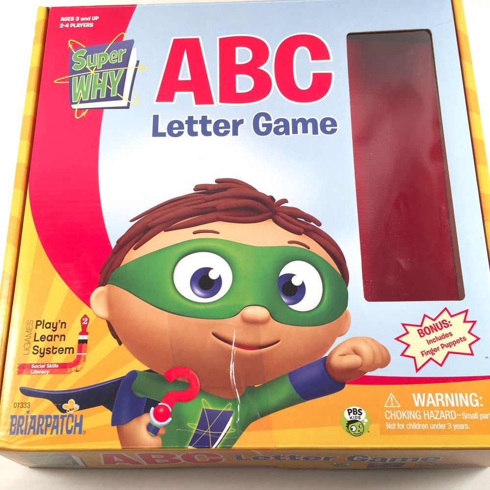 Super Why Abc Letter Game Play And Learn System Alphabet Game Early Literacy Ebay Letter Games Alphabet Games Early Literacy