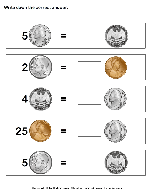 Equivalent Amount With Same Coins Money Worksheets Money Math Worksheets Money Math