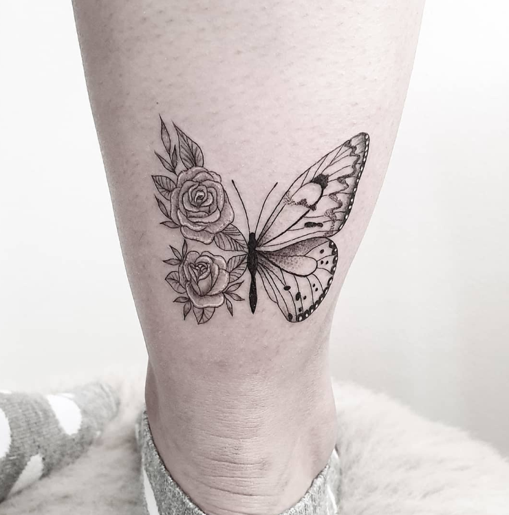 Rate This Butterfly Roses Tattoo 1 to 100