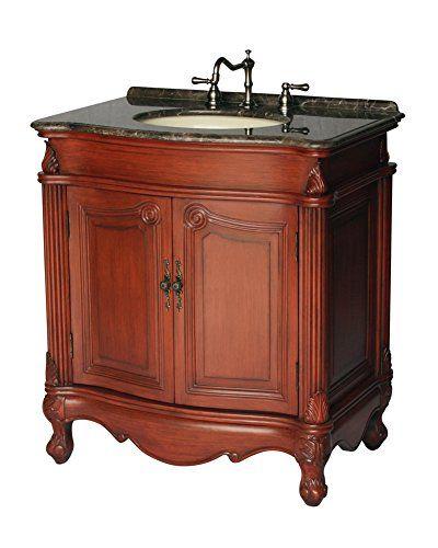 32-Inch Antique Style Single Sink Bathroom Vanity Model 2917-32 MXC - 32-Inch Antique Style Single Sink Bathroom Vanity Model 2917-32 MXC