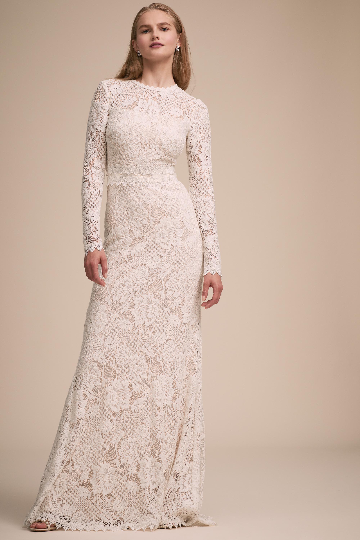 Tenley Gown From Bhldn Wedding Dress Long Sleeve Bhldn Wedding Dress Affordable Wedding Dresses [ 3000 x 2000 Pixel ]