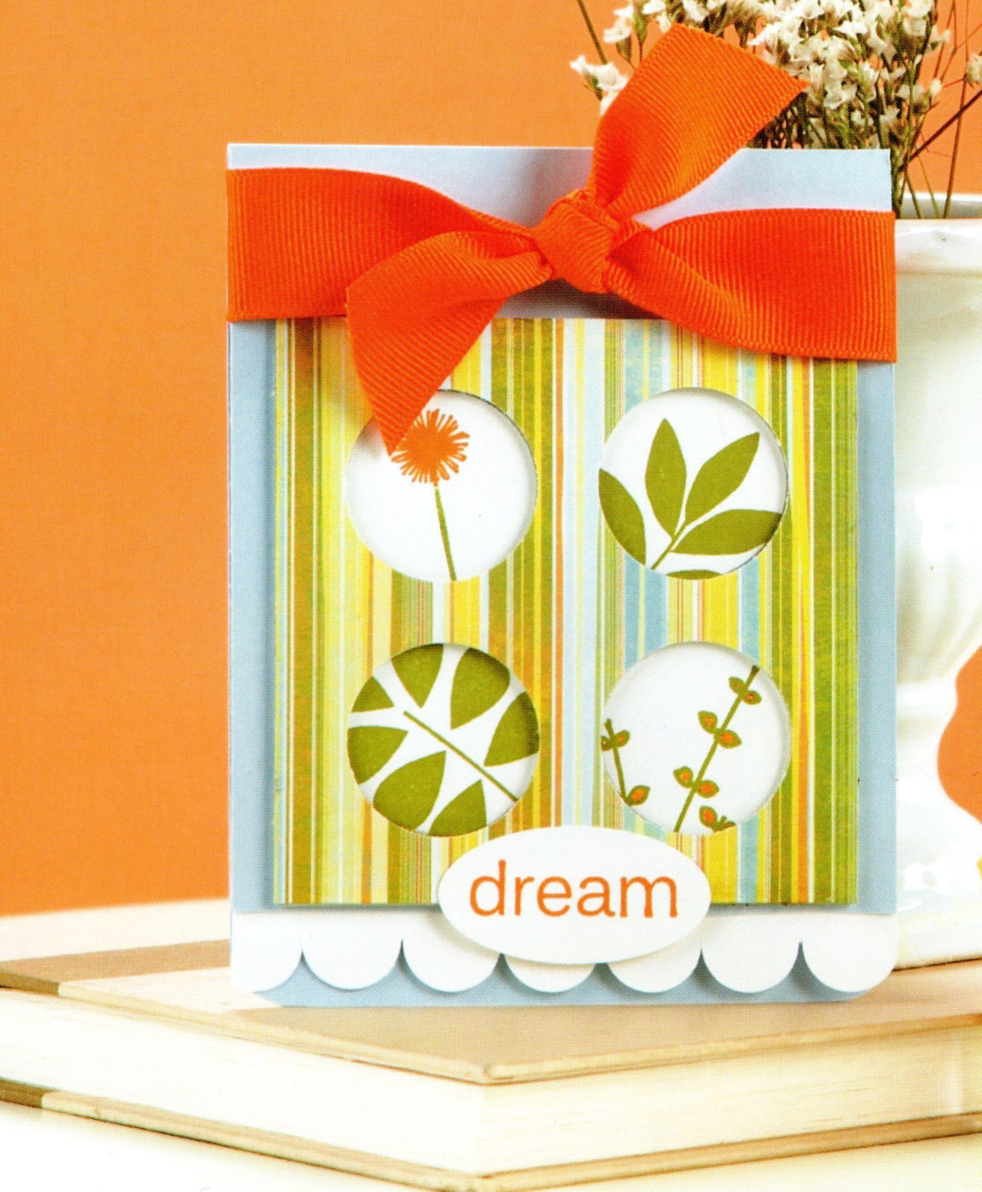 Dream card with flowers in circles