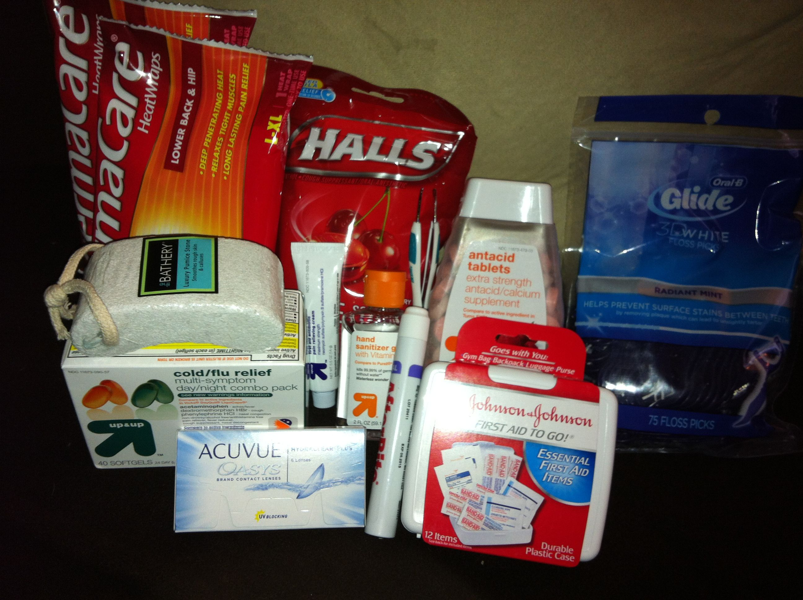 Care Package 3 Medical Kit First Aid Kit Day Nightquil Halls
