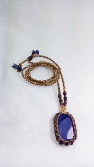Colar de Pedra Sodalita Azul Escuro  artesanal  leporeacessorios  elo7   colar  colares 318b24875f