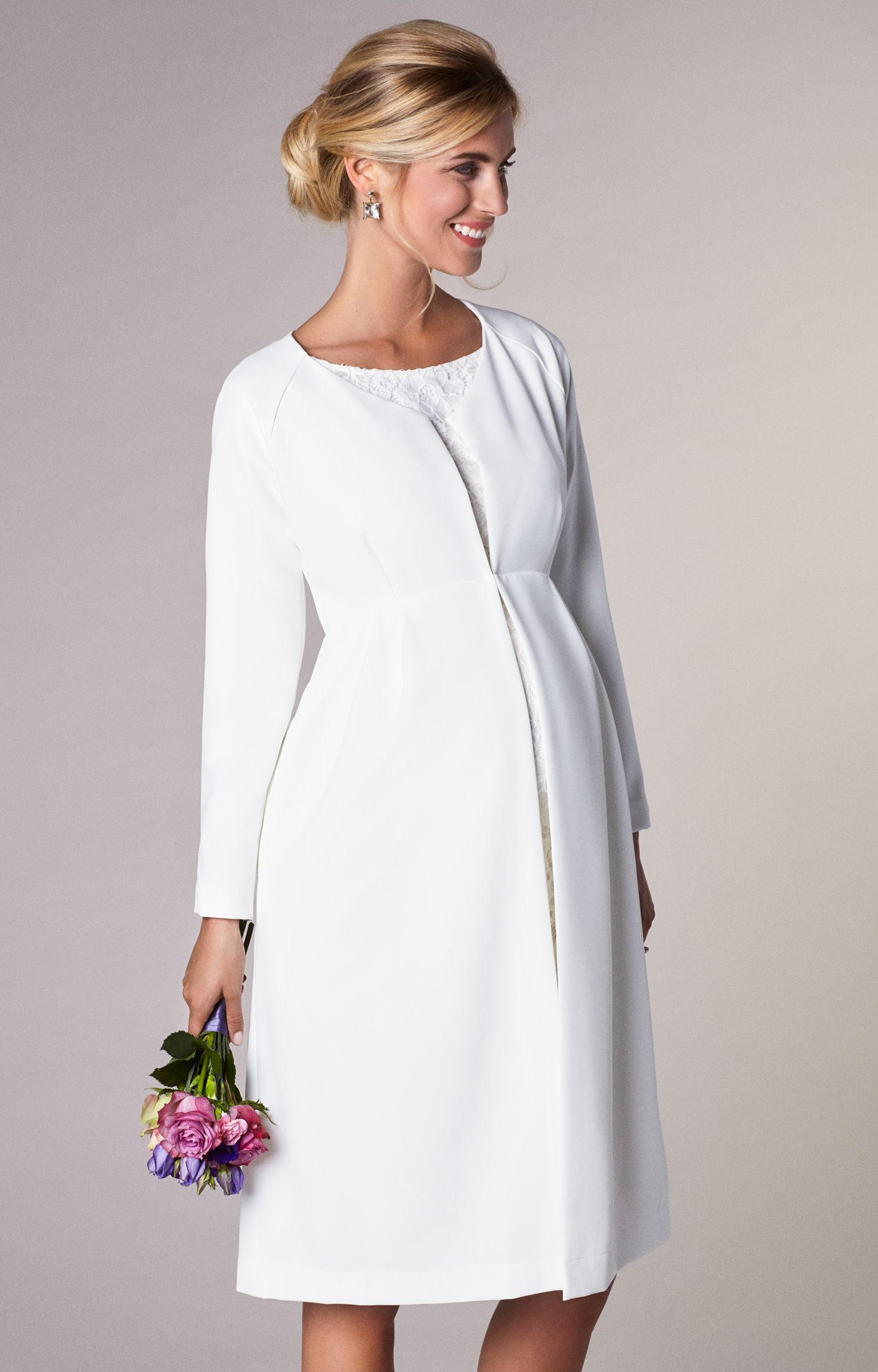 3e88538a6c399 Our new Christie Dress Coat is wistfully classic with a boat neckline,  three quarter sleeves and just a hint of gentle stretch.