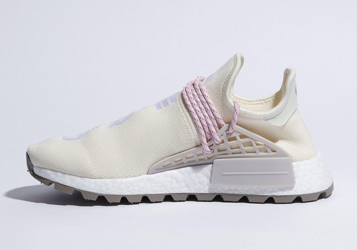 7bf698eca108 Pharrell adidas NMD Hu NERD Cream White Pink EE8102