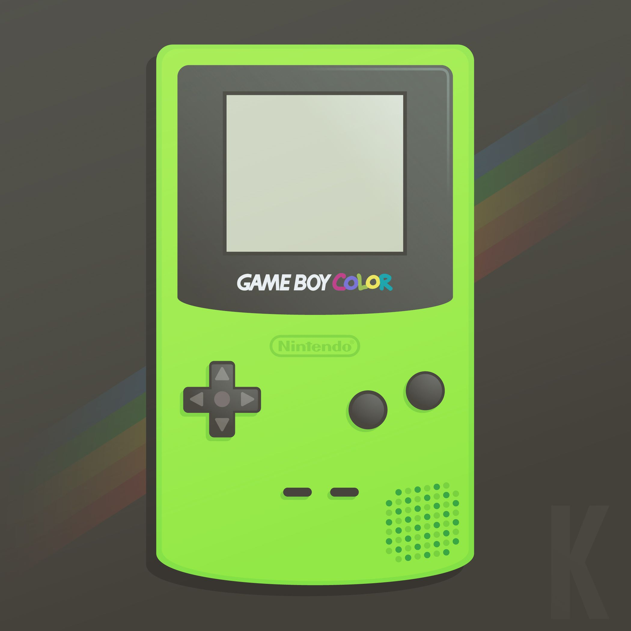 Gameboy Color by Karianne Hutchinson Illustration vector