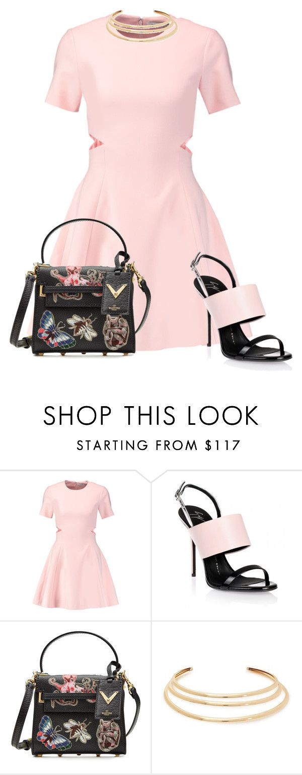 """Untitled #866"" by mrseclipse ❤ liked on Polyvore featuring Elizabeth and James, Giuseppe Zanotti, Valentino and Kenneth Jay Lane"