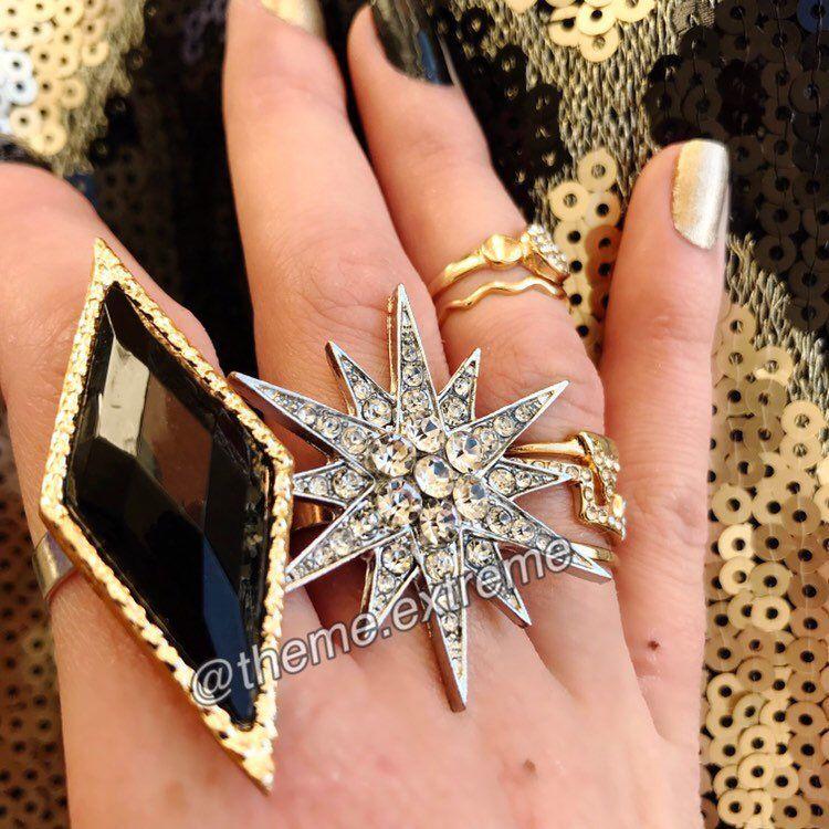 Harley Quinn Suicide Squad silver starburst clubbing scene ring replica