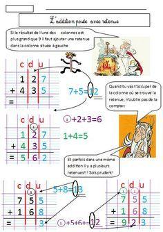Addition pos e avec retenue ce1 ce2 pinterest ce1 ce2 et ce1 ce2 - Soustraction avec retenue cm1 ...