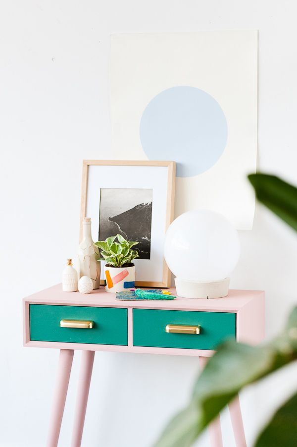 Oh Make Me Over A Mid Century Entryway Table Makeover For Fall