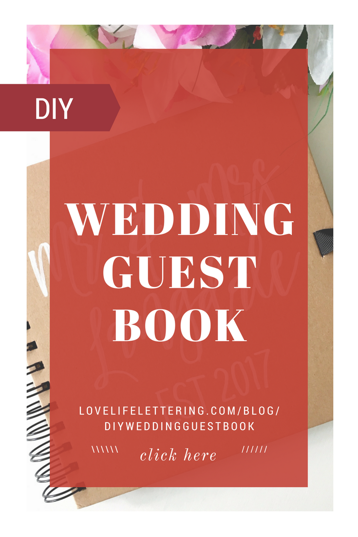 How to make your own Wedding Guest Book (no artistic skills required ...