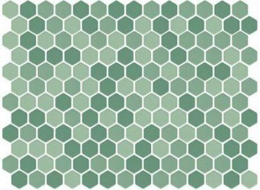 bath room green mosaic hex tile 61+ ideas #bath   tile