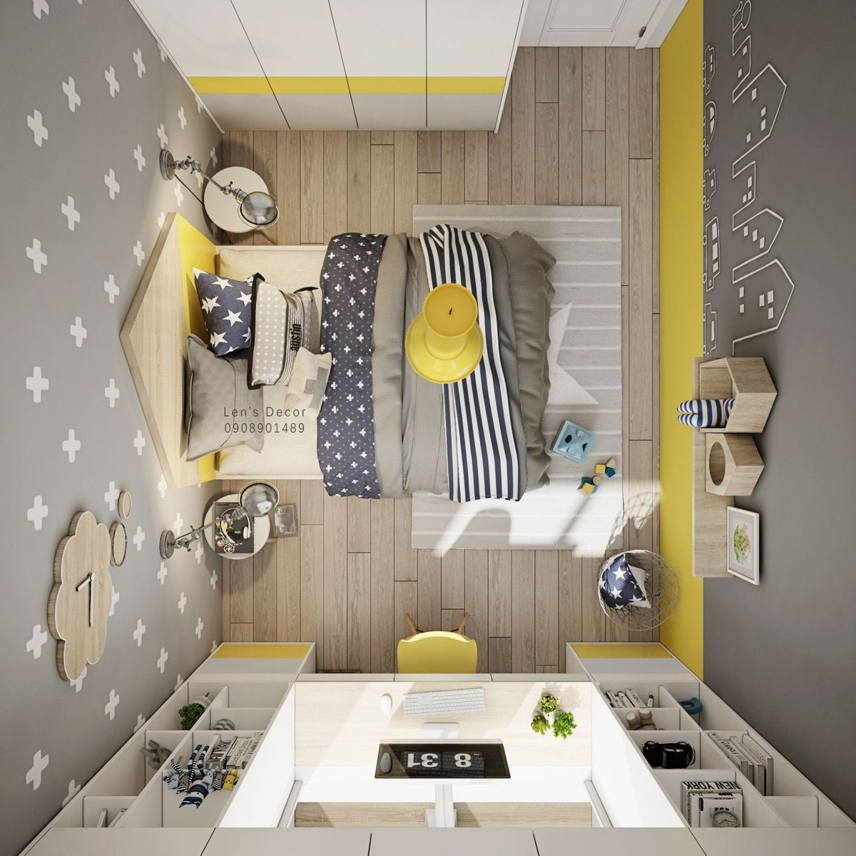 Bright Kids Room: Yellow Kids' Rooms: How To Use & Combine Bright Decor