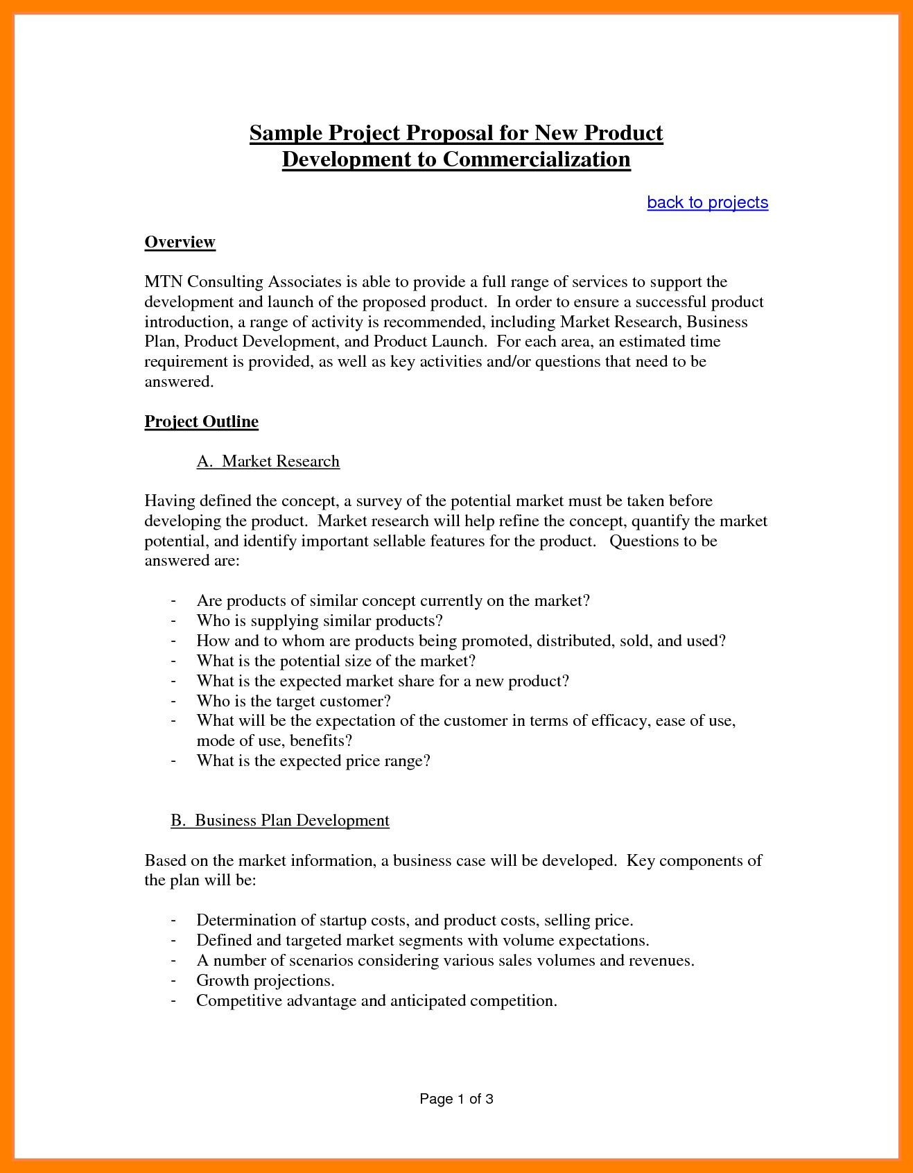 55 Proposal Format Pdf Download Proposal Template Example