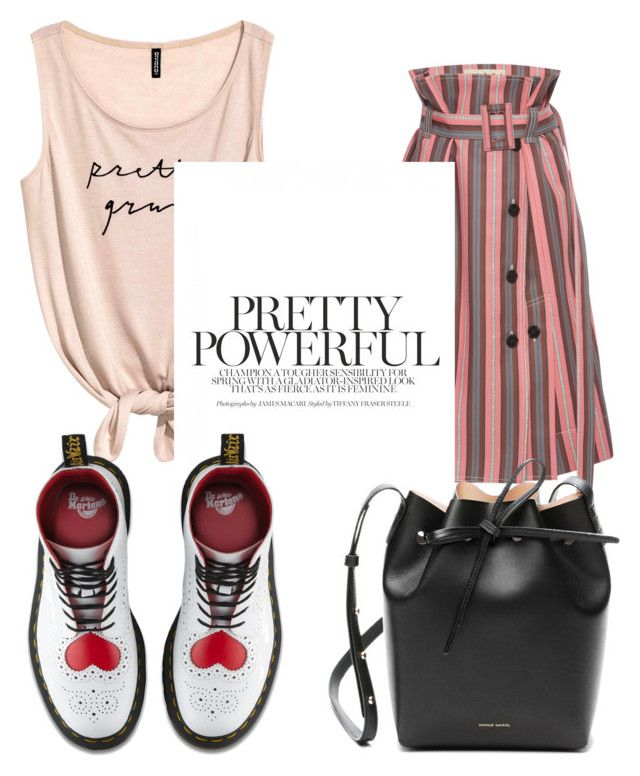 """""""messy"""" by danilomk on Polyvore featuring Marni, Dr. Martens and Mansur Gavriel"""