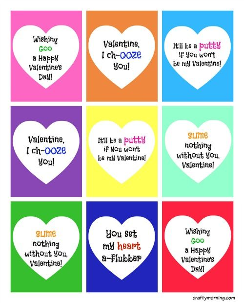 Love Slime Love Valentine S Day Then These Printable Slime Valentines Are For You Kids Will Funny Valentines Cards Valentines For Kids Easy Kids Valentines