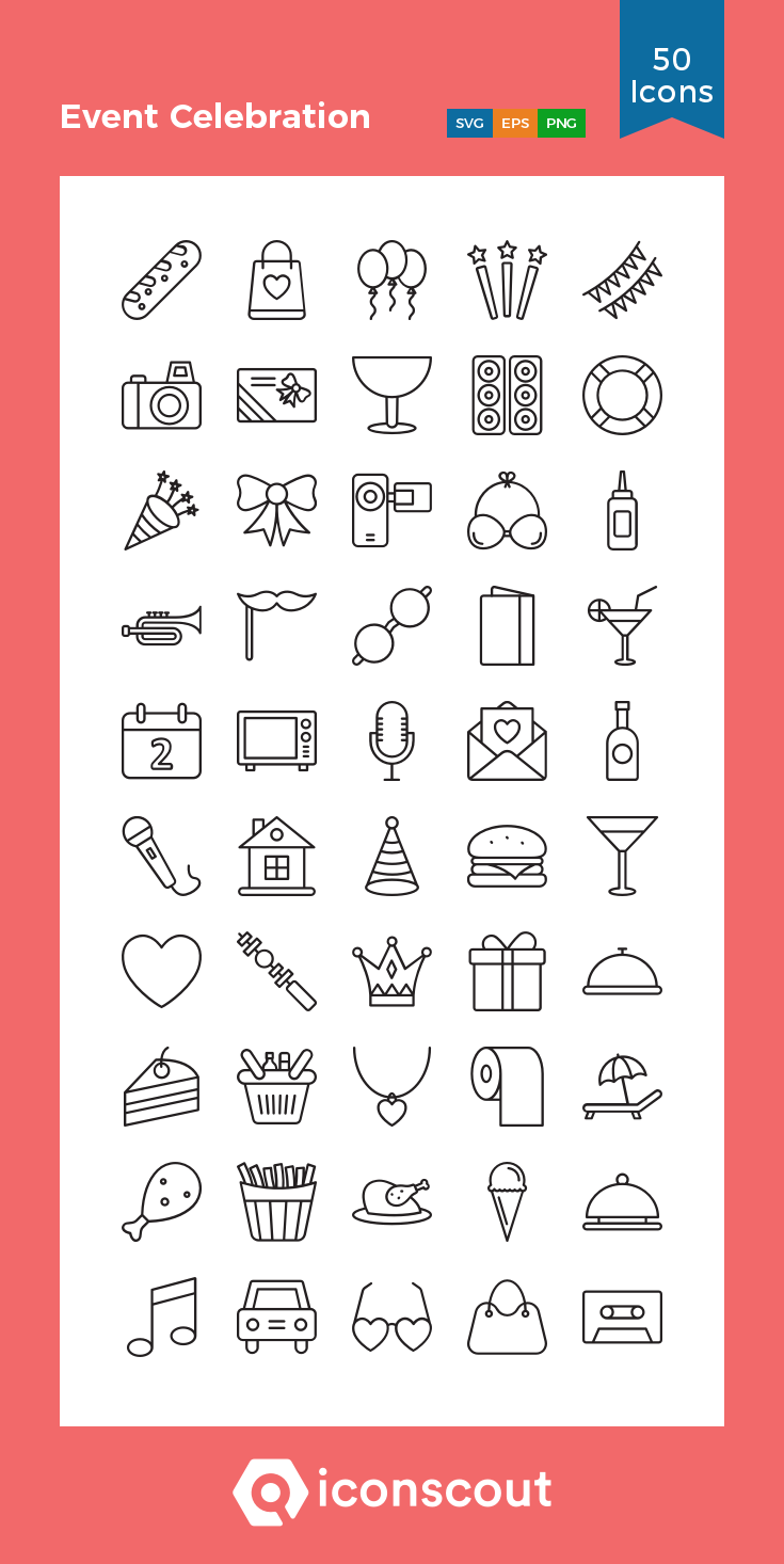 Download Event Celebration Icon Pack Available In Svg Png Eps Ai Icon Fonts Bullet Journal Icons Planner Icons Bullet Journal Key
