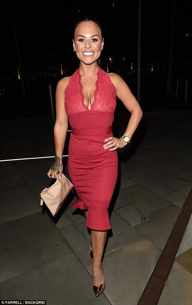 e82d66d2a2 Geordie Shore s Chantelle Connelly goes braless in red midi dress