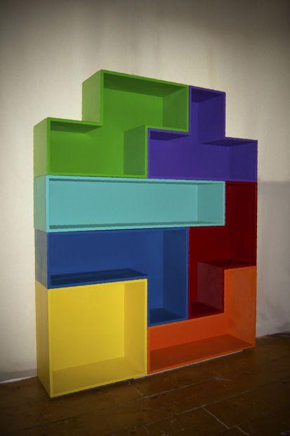 Tetris Shelves Interieur Kinderkamer Hout