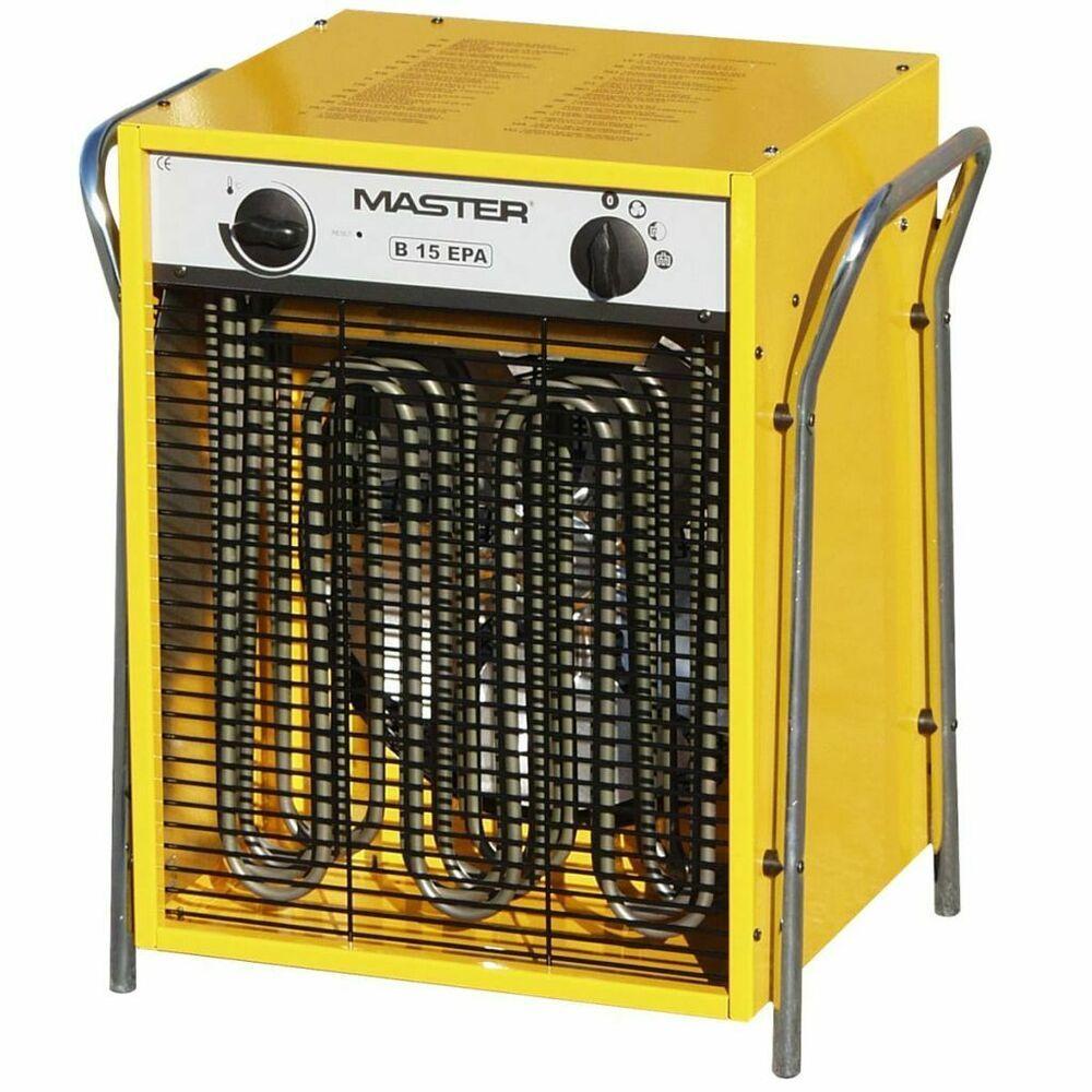 Master Radiateur Soufflant Electrique B15epb 1700 M H Generateur D Air Chaud Radiateur Soufflant Ventilation Radiateur