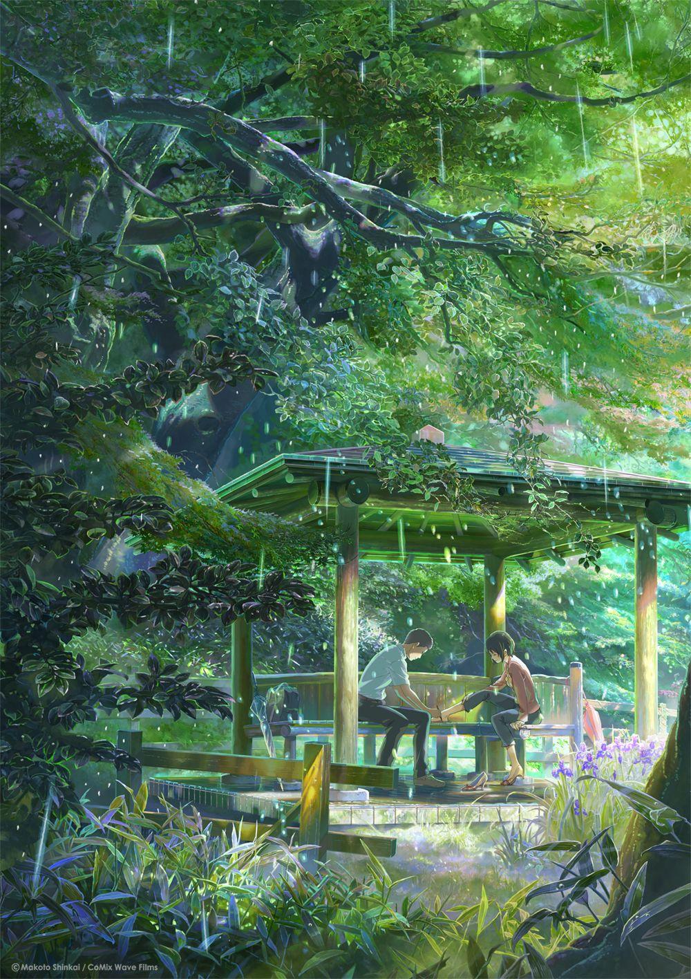 Akizuki Takao Yukino Yukari Kotonoha No Niwa With Images Garden Of Words Anime Scenery Anime Films