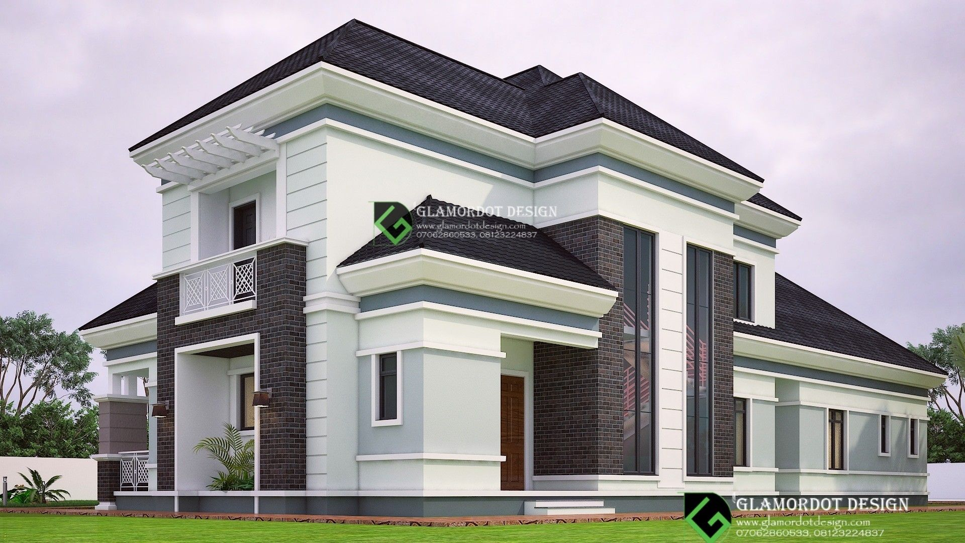 Pin By Glamordot Design On Bungalow With Penthouse Designs Building House Plans Designs Beautiful House Plans Apartment Architecture