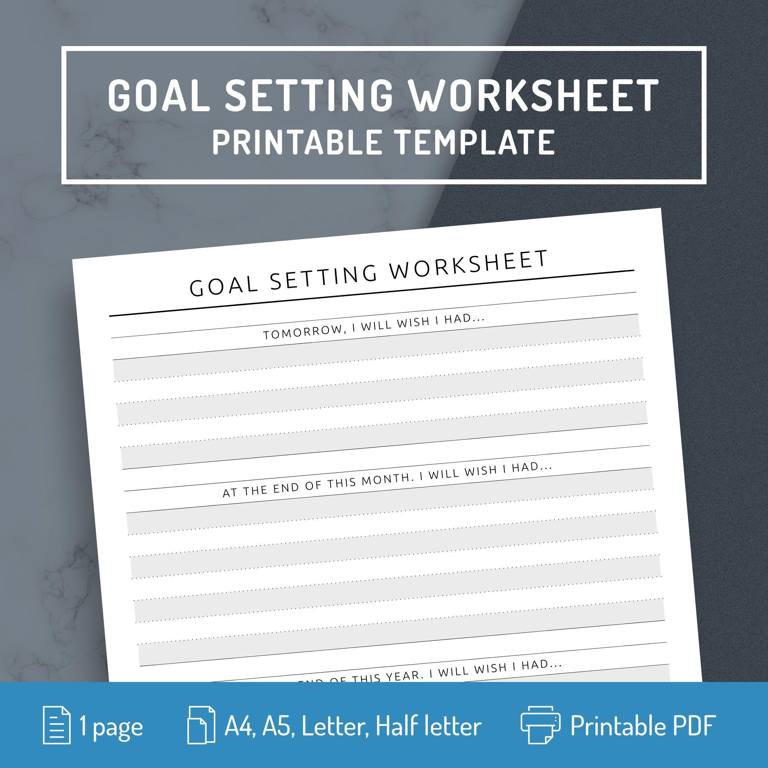 Goal Setting Worksheet Personal Goal Setting Journal
