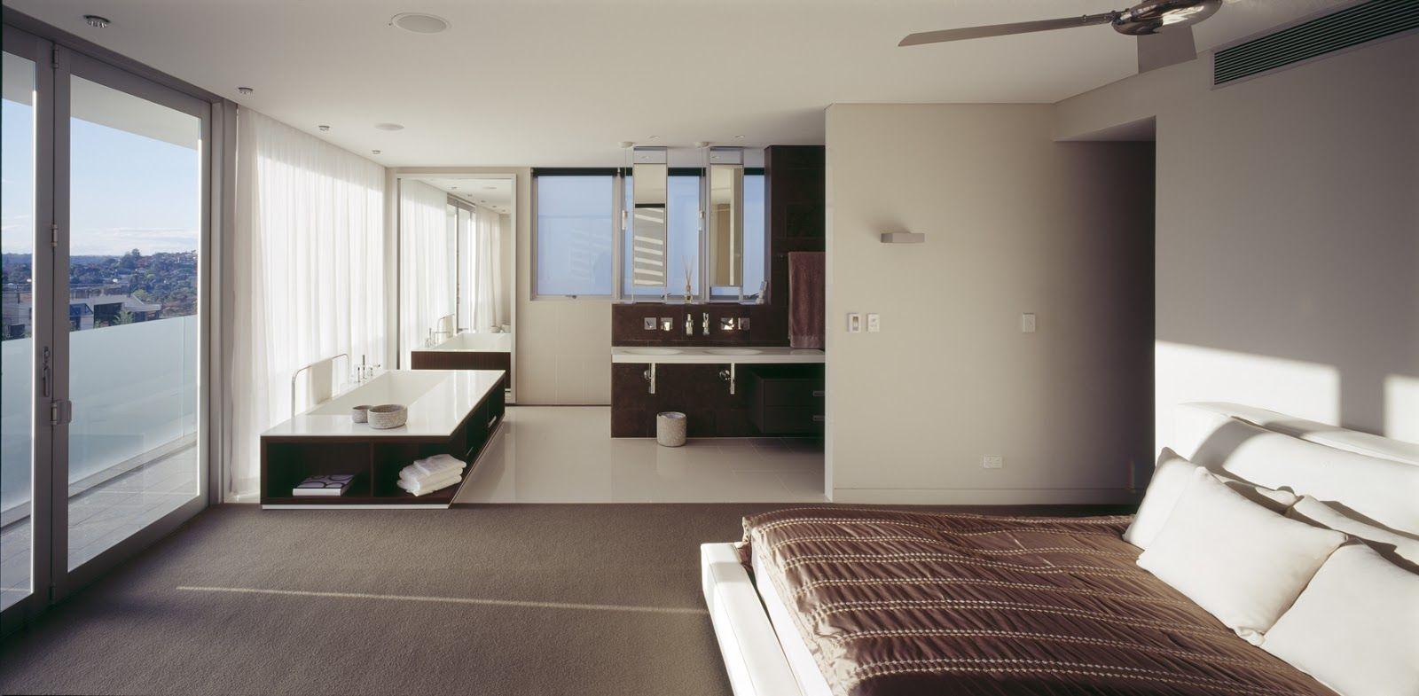 Master Bedroom Ensuite Designs Stunning Open Plan Ensuite & Bedroom  Houses  Pinterest  Open Plan Design Ideas