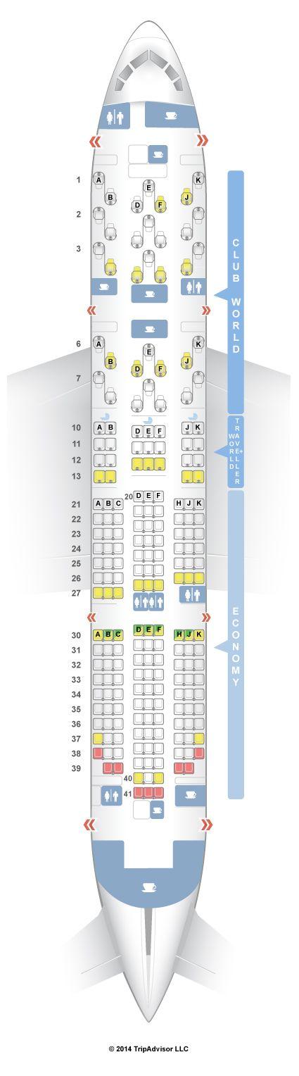 Seatguru Seat Map British Airways Boeing 787 8 788 British Airways Boeing 787 Seatguru