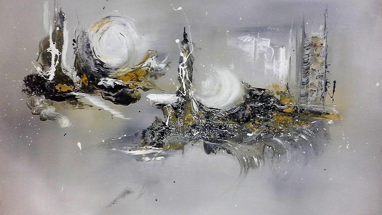 Sleepy Hills - Abstrakte Acrylmalerei - Struktur aus