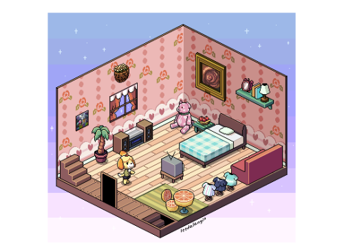 Animal Crossing Pixel Art Isometric Cafeart Happy Home