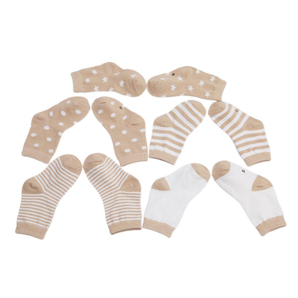Hellrosa Serie Chinget 5 Paar Baumwolle Socken Babys/öckchen Kindersocken f/ür 0-36 Monate S/äugling Baby Jungen und M/ädchen