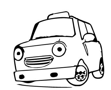 Mewarnai Gambar Mobil Taksi Lucu Aneka Mewarnai Gambar Mobil Lucu Sandakan