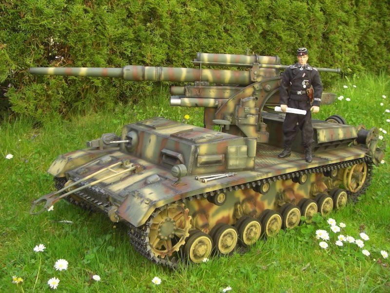 panzer iv mit 8 8 cm flakaufbau in 1 6 ebay fahrzeuge. Black Bedroom Furniture Sets. Home Design Ideas