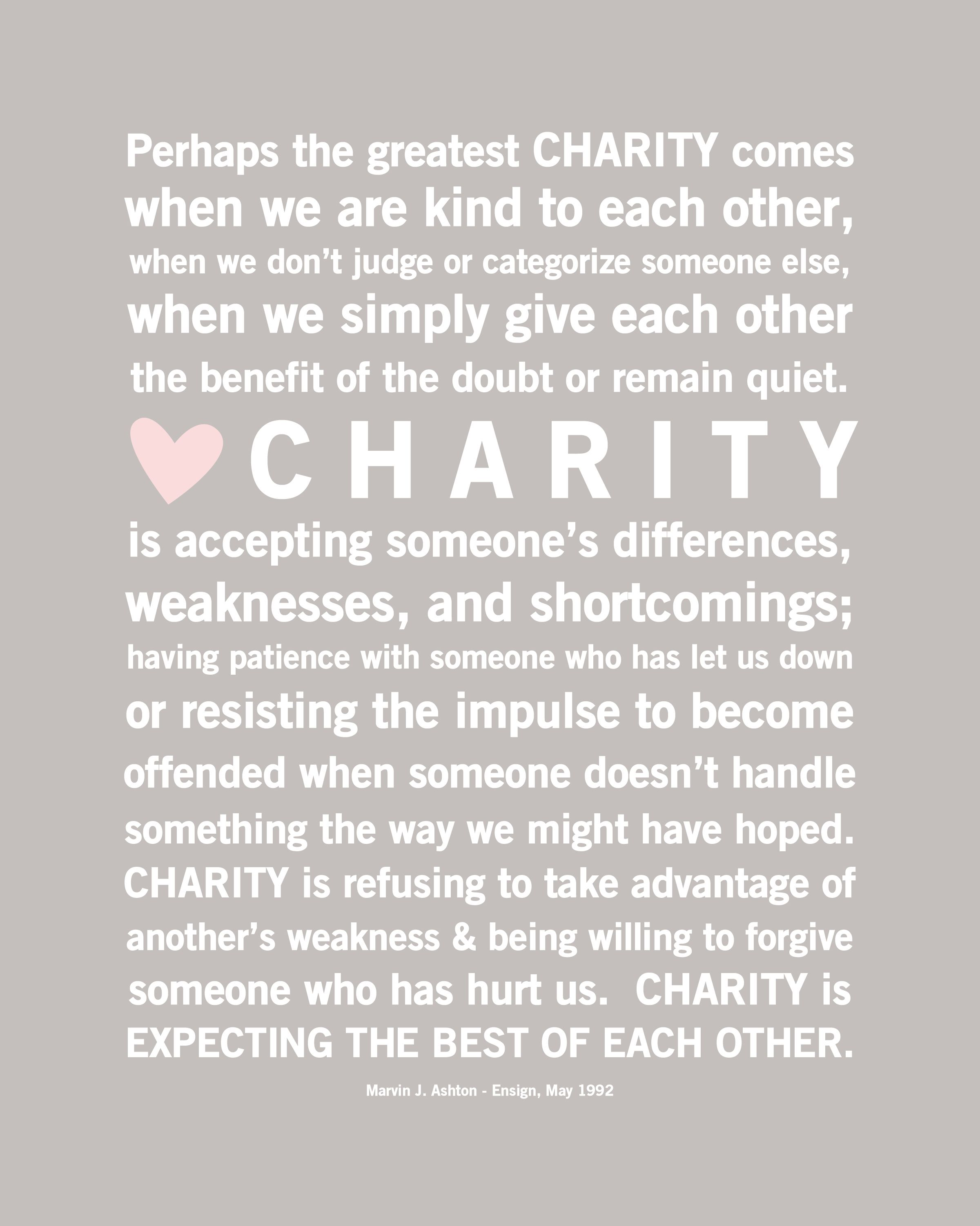 Quotes About Charity Gorgeous Free Download Charity Quote  Simply Fresh Designslove This