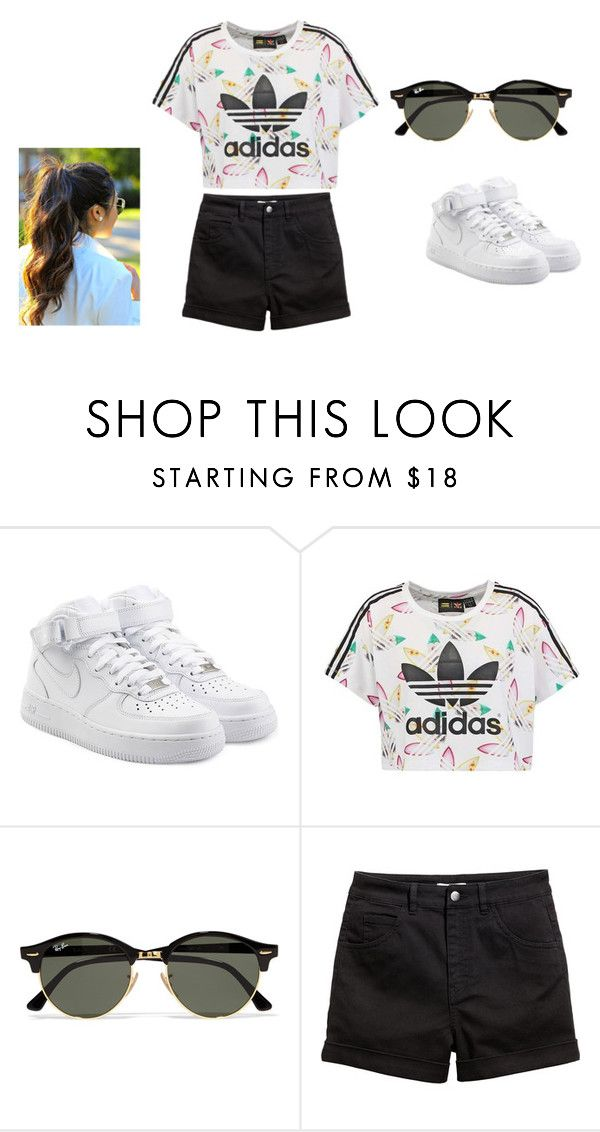 """Adidas definer"" by zaynabdannaoui ❤ liked on Polyvore featuring NIKE, adidas Originals and Ray-Ban"