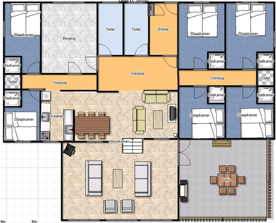 Plattegrond amerikaanse woning google zoeken plattegrond woningen pinterest searching - Plan indoor moderne woning ...