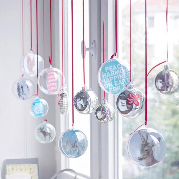 Weihnachtskugeln als Fensterdeko - Bild 33