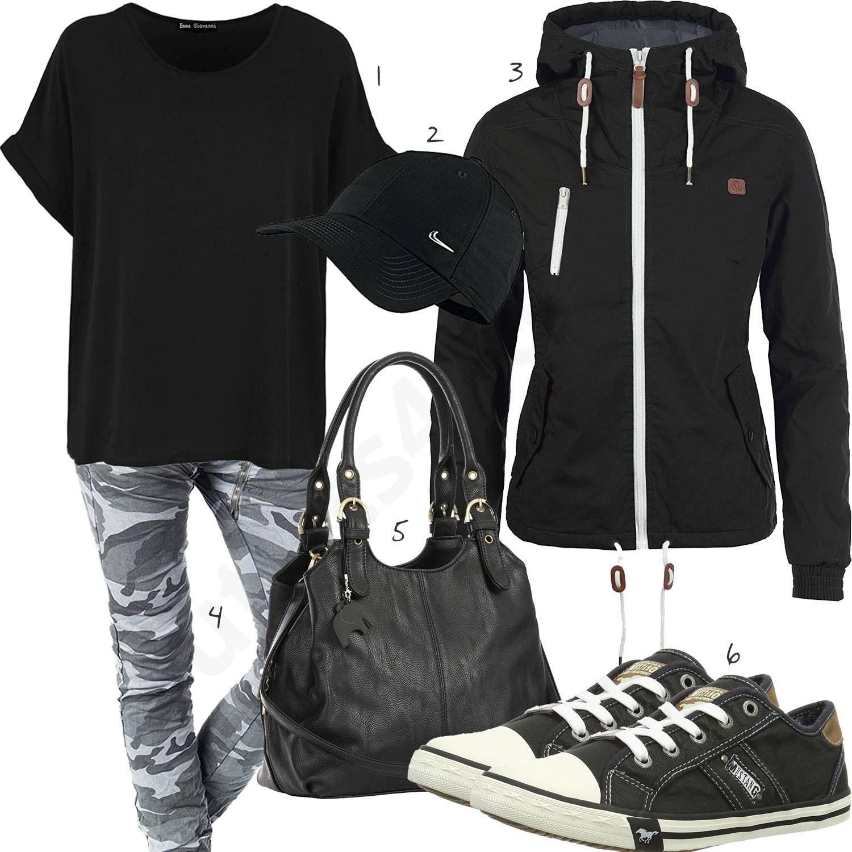 Lässiger Street-Style mit Oversized Shirt und Cap