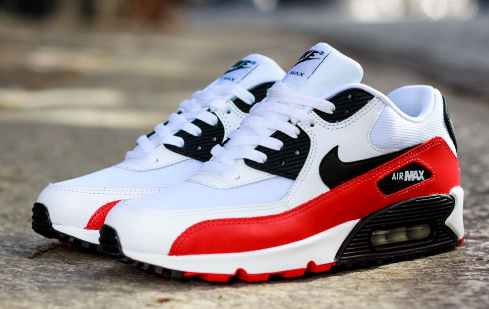 Nike Air Max 90 Essential White Black Crimson