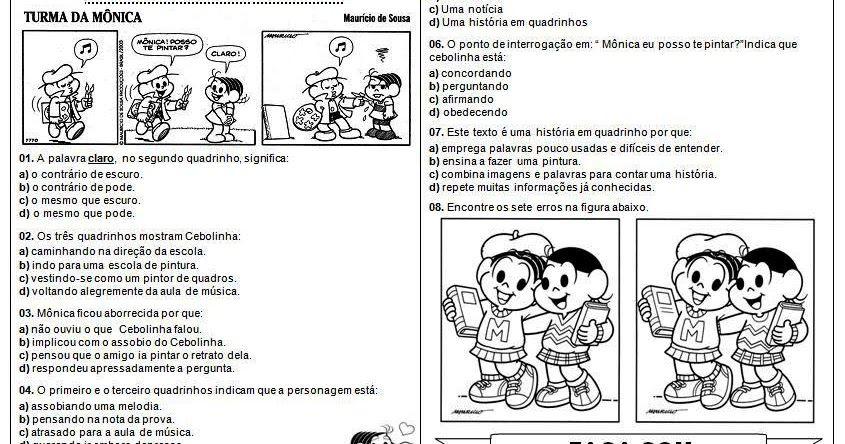 Texto Em Quadrinhos Turma Da Monica Resultados Yahoo Search Da