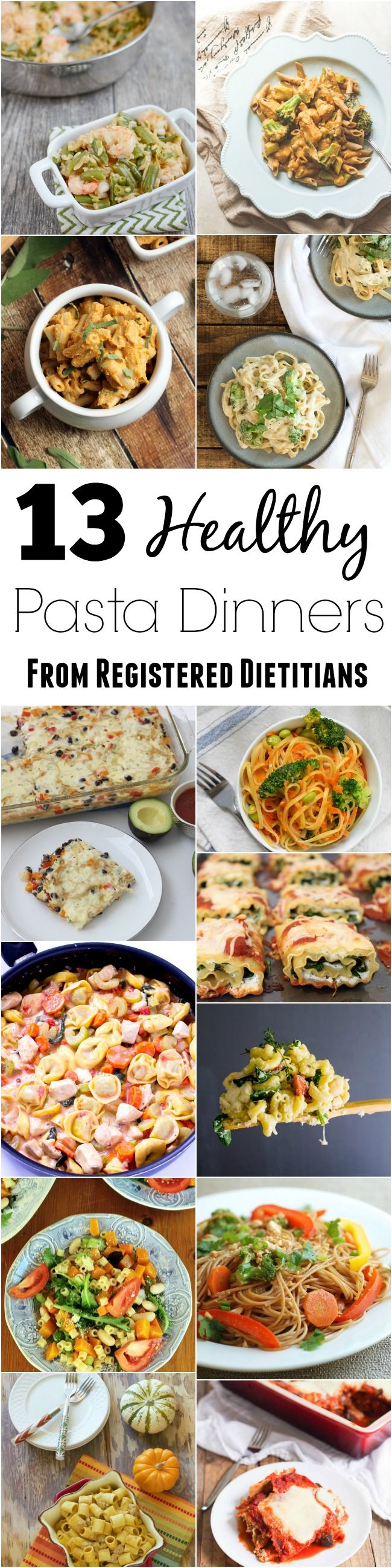 Looking for some new easy dinner recipes? Here are 13 healthy pasta recipes to try this month, all developed by Registered Dietitians in partnership with @pastafits & @healthyaperture