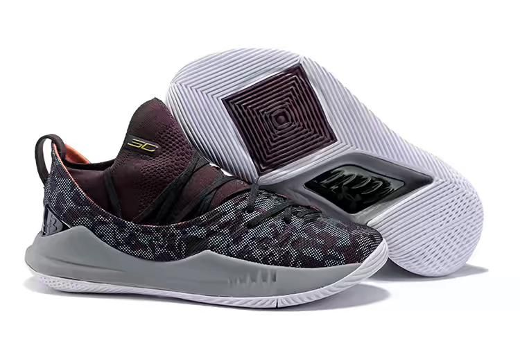b6ae647e636 Under Armour Curry 5 Low Burgundy Cool Grey Basketball Shoes