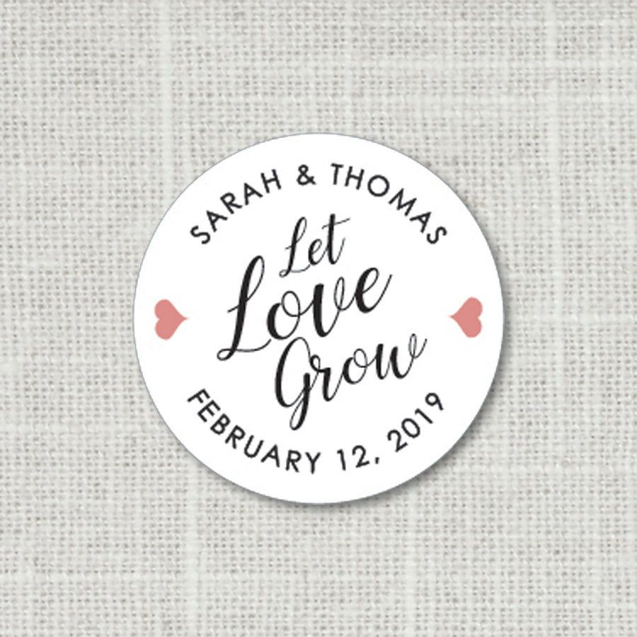 Let Love Grow Floral Wedding Stickers Let Love Grow Stickers Wedding ...