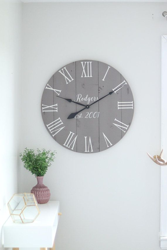 "25""/30"" Kennedy in cursive - Large wall clock - Medium ..."