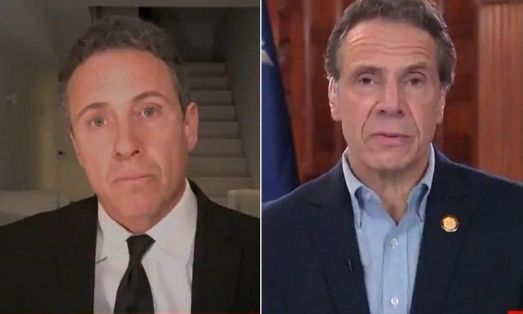Chris And Andrew Cuomo Banter Gov Calls Bro Mom S Little Helper Daily Mail In 2020 Chris Cuomo Andrew Cuomo Chris