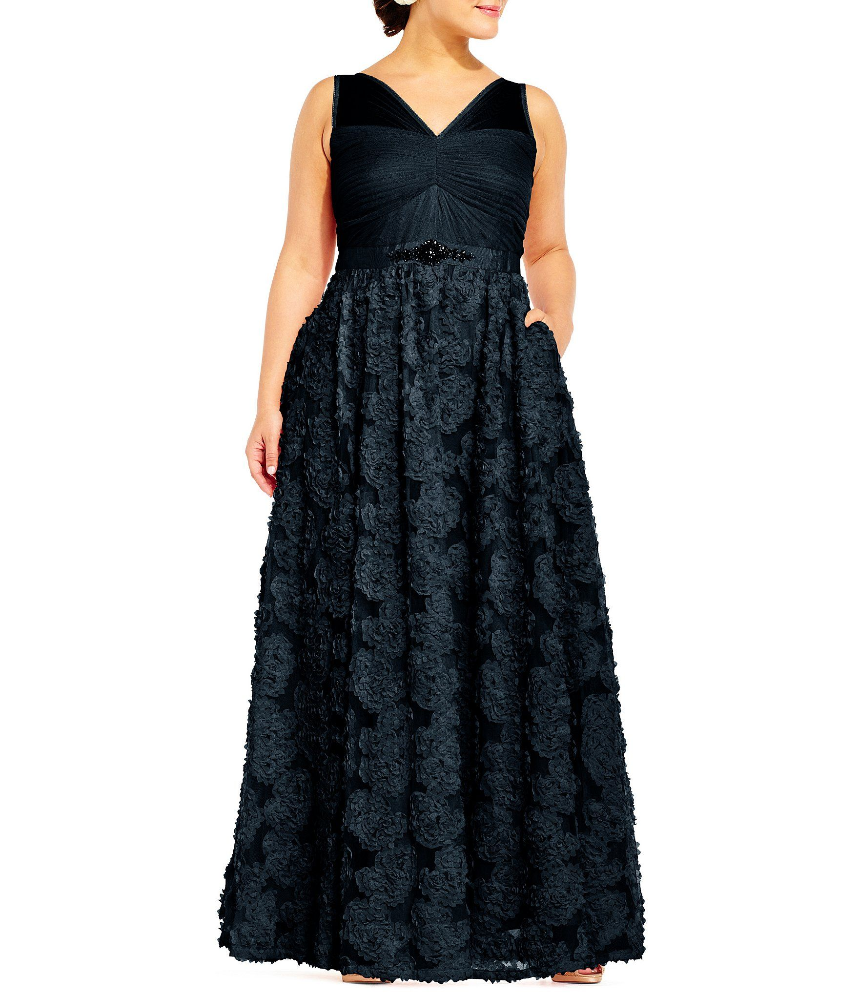 78b74fda38a57 Shop for Adrianna Papell Plus Tulle Chiffon Ballgown at Dillards.com. Visit  Dillards.com to find clothing