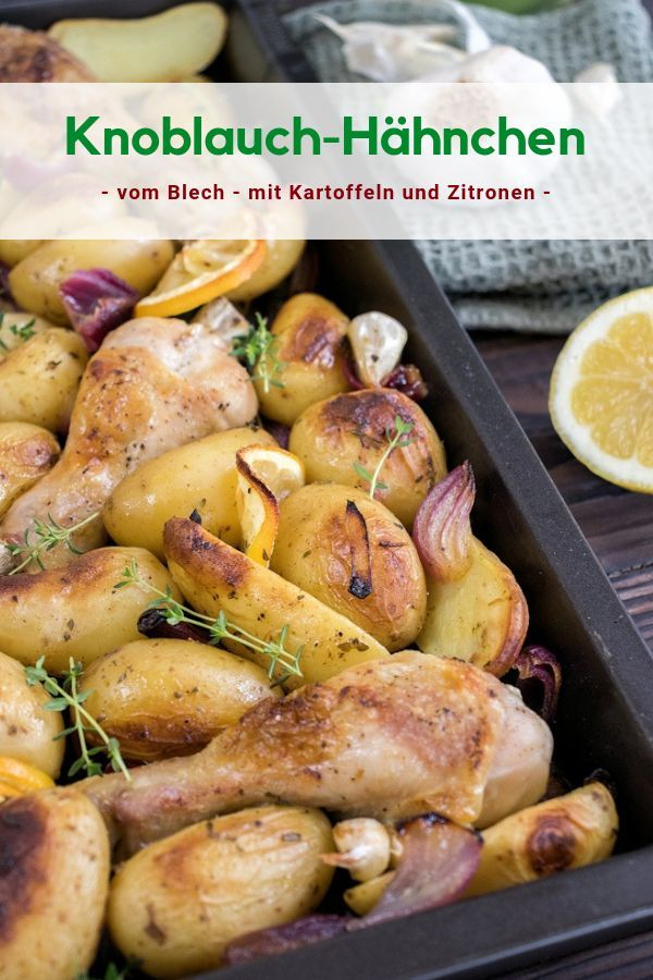 Photo of Crispy oven-garlic chicken with potatoes and …